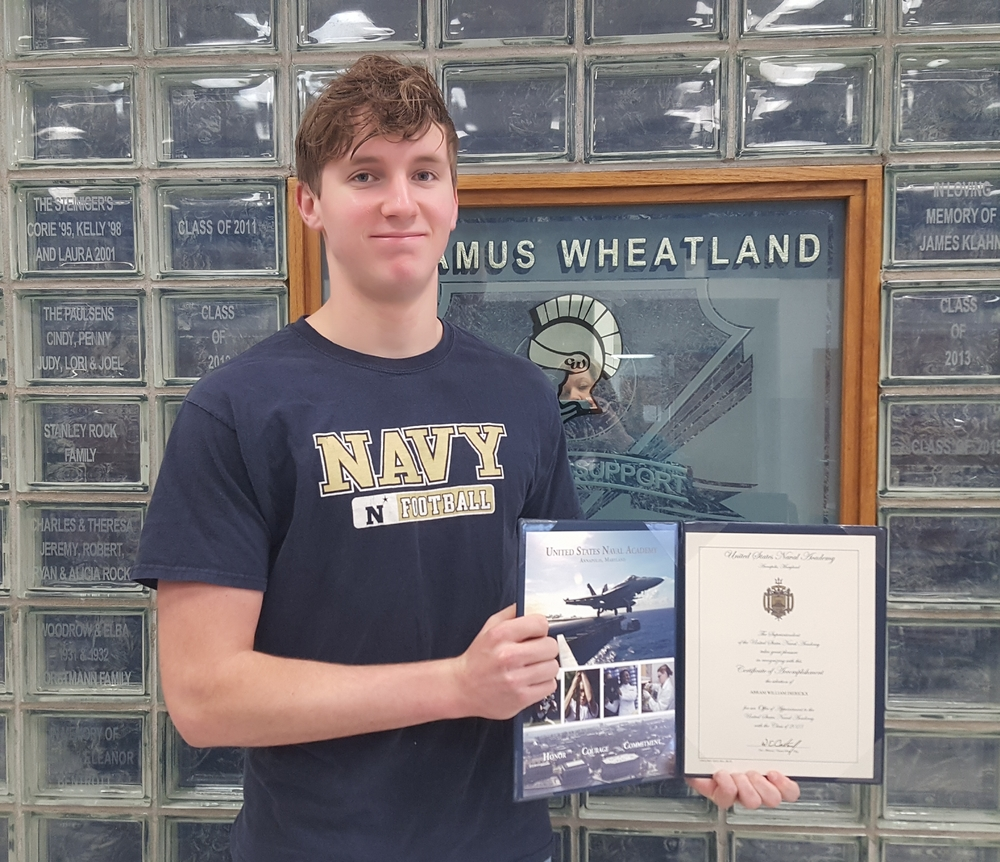 Abram Dierickx appointed to the United States Naval Academy