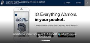 Educational Opportunities links and COVID-19 School Closure website page