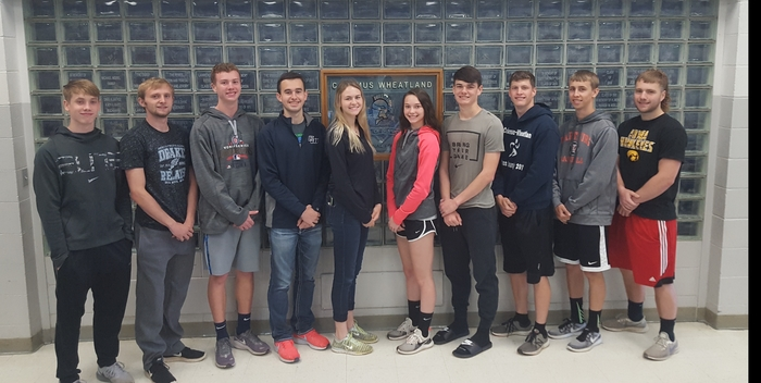 2019 State Track Qualifiers: Connor, Hunter, Chase, Chandler, Grace, Alyssa, Brady, Ray, Max, and Tyler