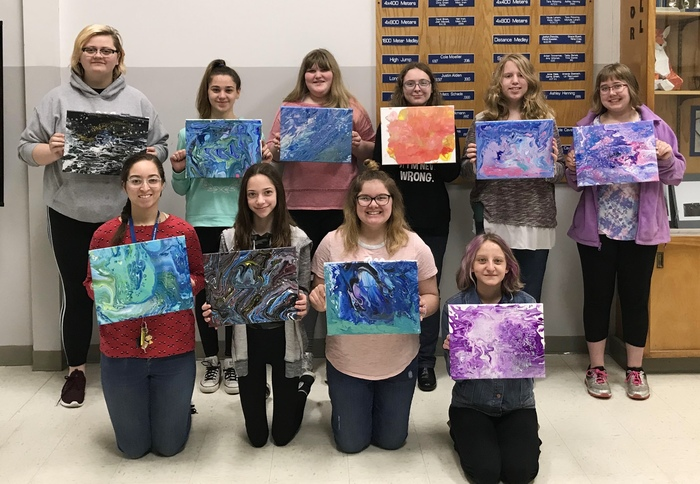 Art Club acrylic paintings