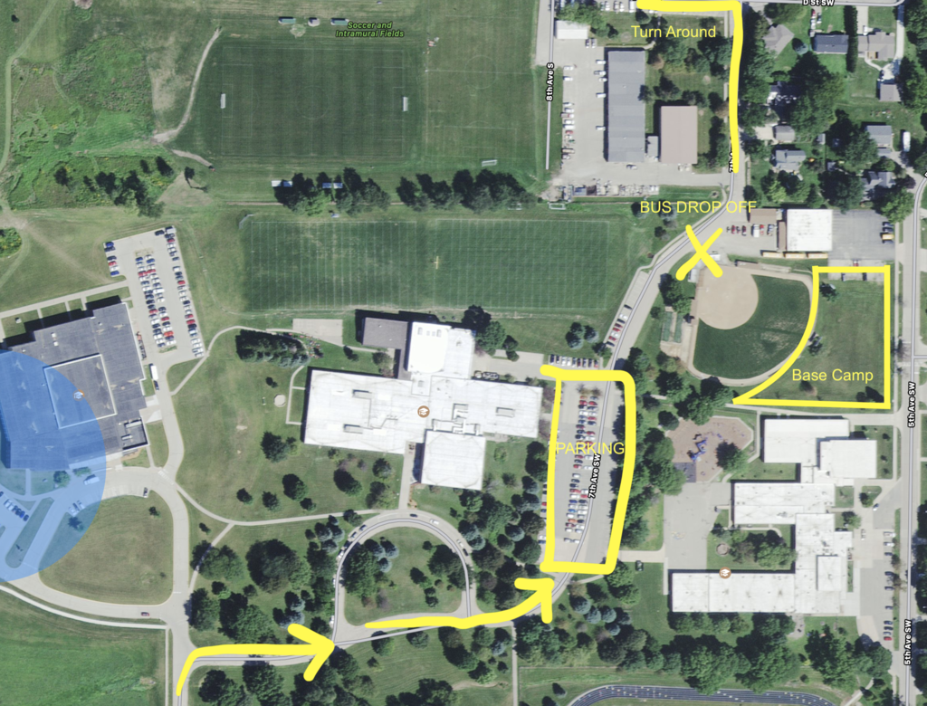 Mt Vernon cross country parking map